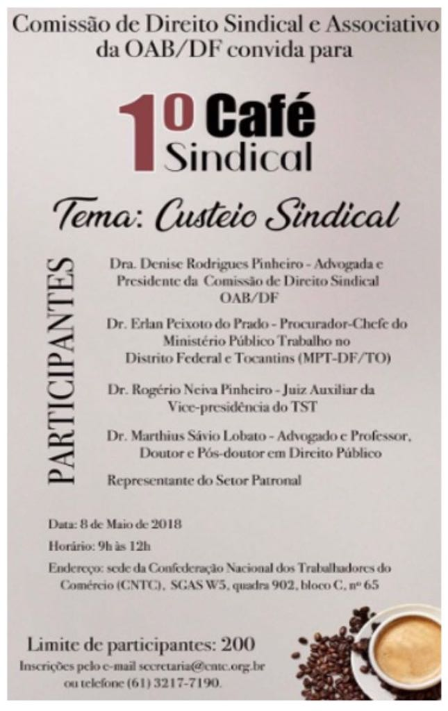 cafe sindical custeio