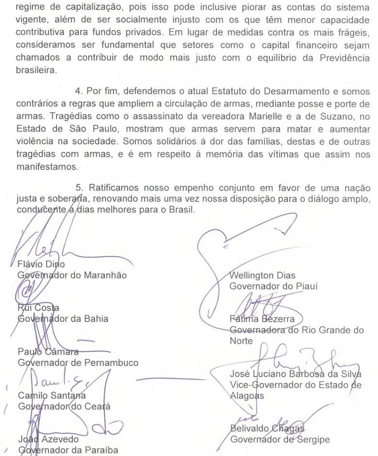 carta dos governadores 2